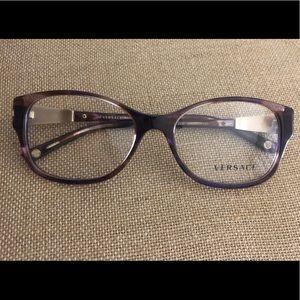 VERSACE Brown/Purple Tortoise Shell Eyeglasses